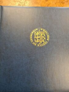 Guernsey  Stamp Album Lindner Hingless  to 1978 with  stamps slipcase