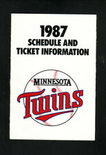 Minnesota Twins--1987 Pocket Schedule--SuperAmerica