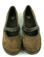 Crocs Brown Leather Suede Mary Jane Slip On Loafer Women's Shoes Size 7W