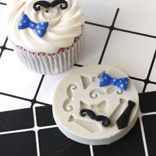 3D Moustache Tie Silicone Cake Mold Fondant Chocolate Sugarcraft Baking Decor