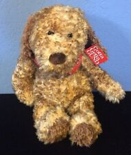 "Gund 5356 Jed The 14"" Brown fuzzy Dog 2002 W/ Red Bandana NWT"
