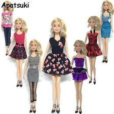 7pcs/lot FashiohClothes For Barbie Princess Doll Fashion Casual Wear Party Dress