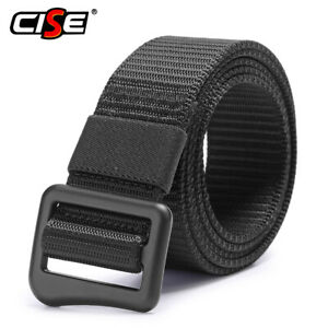 Men Business Outdoor Tactical Belt Military Buckle Waist Support Strap Sports