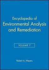 Encyclopedia of Environmental Analysis and Remediation, Volume 7, , Very Good Bo