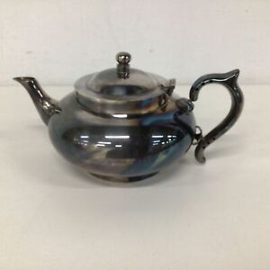 Vtg Robur Perfect Teapot Patented 101-7 EPNS With Infuser #460