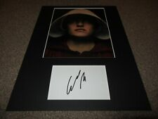 Elisabeth Moss autograph - signed card - Mad Men - The Handmaid's Tale