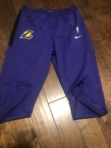 NBA AUTHENTIC LA LAKERS NIKE ON COURT GAME TEAM ISSUE WARM UP PANTS SZ 4XL-TALL