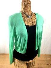 Women's Talbots  Lime Green Rayon Open Cardigan With Black Tank  Size S