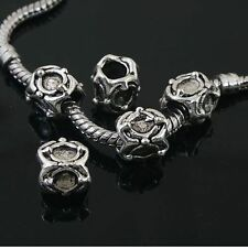 6pcs Tibetan Silver nice spacer Beads Fit European charm Bracelet  L0055