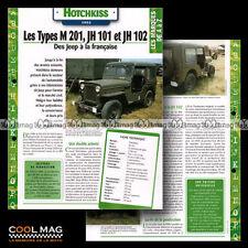 #hvf.112.03 HOTCHKISS TYPE M 201, JH 101 & JH 102 1952 Car Fiche Auto
