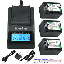 Kastar Battery LCD Fast Charger for Sony NP-FV70 & DCR-SX15 DCR-SX20 DCR-SX21