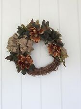 Beautiful Handmade Spring Floral Grapevine Wreath with Magnolias