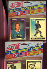 LOT OF (4) 1991-92 Score USA Hockey card Set Blister pack ~ Wax Box HOT CARD