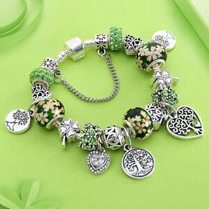 Charm Pandora Bracelet Silver Heart Jewelry Tibetan silver elegat