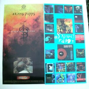 SKINNY PUPPY Video Collection 2-Sided Promo Poster Banner Mint- 1992 ORIGINAL!