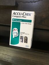 New Accu-Chek Compact Plus 51ct Blood Glucose Test Strips, EXP 8/31/20