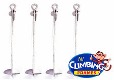 Set of 4 LONG Ground Anchors 500mm Galvanised Swing Trampolines Climbing Frames