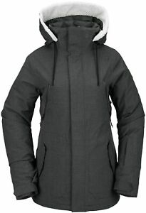 2021 NWT WOMENS VOLCOM SHRINE INSULATED JACKET $275 S Dark Grey long fit