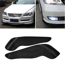 2x Universal Winglet Style Carbon Fiber Look Front Bumper Lip Diffuser Splitters