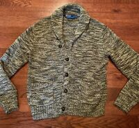 Polo Ralph Lauren Cardigan Button Up Men's Size Medium Sweater Shawl Thick Prep