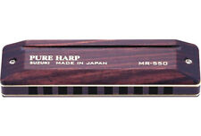 Suzuki SU-MR550 Pure Harp Wooden Key of C 10-Hole Diatonic Harmonica MR-550