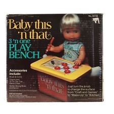Vintage 1978 Remco Toys - Baby This 'N That 3'N One Play Bench no. 94728