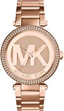 Mujer MK5865 Oro Rosa Mk Michael Kors Reloj de cristal Parker RRP £ 299