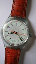 Swatch 1992 Automatic Wrist Watch With Two Extra Straps Swiss ETA 2824 Movement