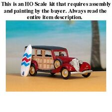 """HO SCALE: """"1934 FORD WOODY STATION WAGON"""" by Sylvan-Kit V-177"""