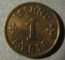 Iceland # 1 Aur 1931 circulated,  Iceland Kingdom . Rare coins.