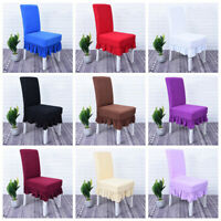 Wedding Dinning Room Party Decor Chair Cover Spandex Cover Slipcover 1/4/6 Pcs