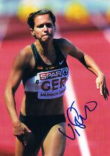 "Verena Sailer 1985- autograph 5""x7"" photo signed In Person German sprinter"