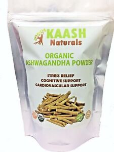 ASHWAGANDHA POWDER (Indian Ginseng) USDA Certified Organic 100% Raw Adaptogenic
