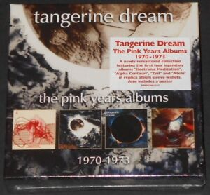 TANGERINE DREAM the pink years albums 1970-1973 UK 4-CD BOX SET new sealed