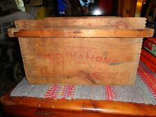 VINTAGE RED DIAMOND EXPLOSIVES WOODEN SHIPPING CRATE. AUSTIN POWDER CO.