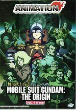 Anime DVD Mobile Suit Gundam : The Origin Vol.1-6 End English Dubbed Free Ship