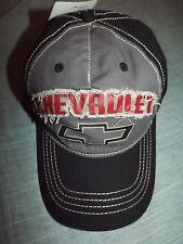 MEN'S CHEVROLET BLACK & GRAY BASEBALL CAP NEW