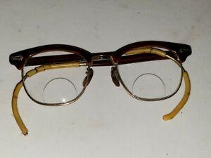 Vintage 1950's Shuron Horn Rim Eyeglasses Frame 12k GF 1/10