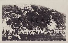 WW1 panoramic view of Australians at Gaba Tepe Dardanelles Gallipoli
