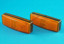 2 X LED Luci Di Posizione Laterali Ambra Luce-DUAL VOLTAGE 12 & 24 Volt #1490AM #TR