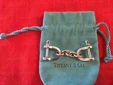 Silver Equestrian Stirrups Key Chain Fob Estate Vtg Tiffany & Co. 925 Sterling