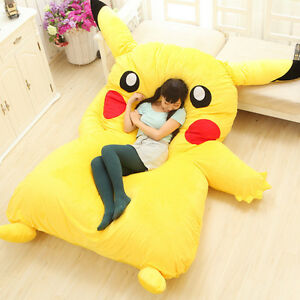 New Huge Giant Filled Pikachu Bed Carpet Tatami Mattress Sofa Great Xmas Gift