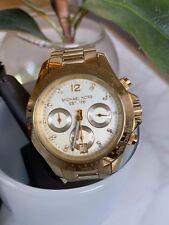 Michael Kors Gold Oversized Chronograph Watch