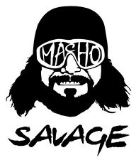 Macho Man Randy Savage WWE WWF Vehicle Decal Car Laptop Sticker WCW