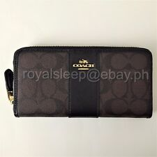 COACH Signature PVC Leather Accordion Zip Around Wallet **Brand New w/ Tag**
