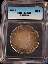 1962 Canadian $1 Coin ICG - MS62 (C371)