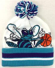 NBA Charlotte Hornets Adidas Knit Hat Cap Beanie w/ Pom KQ35Z NEW!