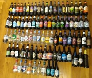 For collection Surrey/Hants: over 85 different empty beer ale bottles