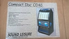 Sound Leisure Compact Disc CD40 Jukebox Sales Brochure / Flyer / Pamphlet