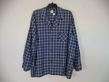 Men's Blue Covington Plaids & Checks Pajama Shirt. 2XL ( 50 - 52 ). 100% Cotton